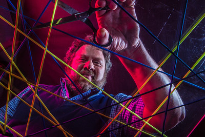 Physics professor David Newman has drawn national attention with his recent work on the susceptability of large systems, such as the nation's power grid, to catastrophic failure.  Filename: AAR-14-4150-30.jpg