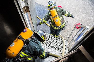 The CTC Summer Fire Academy is an intensive month-long training where students participate in classroom and hands-on learning to prepare them for the International Fire Service Accreditation Congress Firefighter I certificate.  Filename: AAR-16-4937-177.jpg