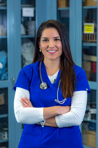 """Pre-nursing student Tiffany Scott poses in the classroom at UAF's Chukchi Campus in Kotzebue.  <div class=""""ss-paypal-button"""">Filename: AAR-16-4863-448.jpg</div><div class=""""ss-paypal-button-end""""></div>"""