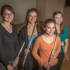 "From left to right, Mandi Silveira, Therese Schneider, Meryem Kugzruk and Lilly Gesin are members of a flute quartet at UAF.  <div class=""ss-paypal-button"">Filename: AAR-14-4115-4.jpg</div><div class=""ss-paypal-button-end"" style=""""></div>"