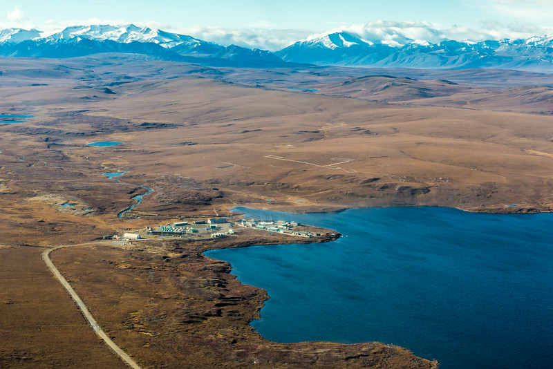 """An aerial view of the Toolik Field Station, about 330 miles north of Fairbanks on Alaska's North Slope . The camp is operated by UAF's Institute of Arctic Biology and hosts scientists from around the world for a variety of arctic-based research efforts.  <div class=""""ss-paypal-button"""">Filename: AAR-13-3929-173.jpg</div><div class=""""ss-paypal-button-end""""></div>"""