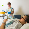 "Kris Redd, left, and Nani Pule alternate practicing caregiving techniques during an exercise in CTC's nursing assistant training at the program's facility on Barnette Street in downtown Fairbanks.  <div class=""ss-paypal-button"">Filename: AAR-16-4873-281.jpg</div><div class=""ss-paypal-button-end""></div>"