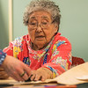 "Local elder Eula David leads an evening beading class at UAF's Kuskokwim Campus in Bethel.  <div class=""ss-paypal-button"">Filename: AAR-16-4859-548.jpg</div><div class=""ss-paypal-button-end""></div>"