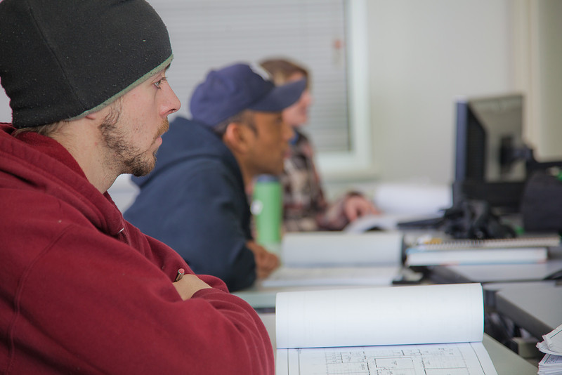 """Students listen to their instructor in their computer aided design class at UAF's Community and Technical College.  <div class=""""ss-paypal-button"""">Filename: AAR-11-3226-023.jpg</div><div class=""""ss-paypal-button-end"""" style=""""""""></div>"""
