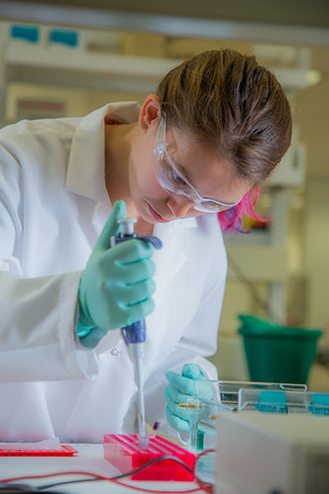 Brianna Gilmore from Fairbanks is taking part in the six-week RAHI Research summer residence program, learning molecular biology and genetics while working in a research lab on the Fairbanks campus.  Filename: AAR-12-3459-214.jpg