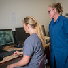 "UAF Community and Technical College assistant professor Jenifer Filotei and student Lauren Slater study a computer image of a radiograph x-ray at the school's facility on Barnette Street in downtown Fairbanks.  <div class=""ss-paypal-button"">Filename: AAR-16-4873-160.jpg</div><div class=""ss-paypal-button-end""></div>"