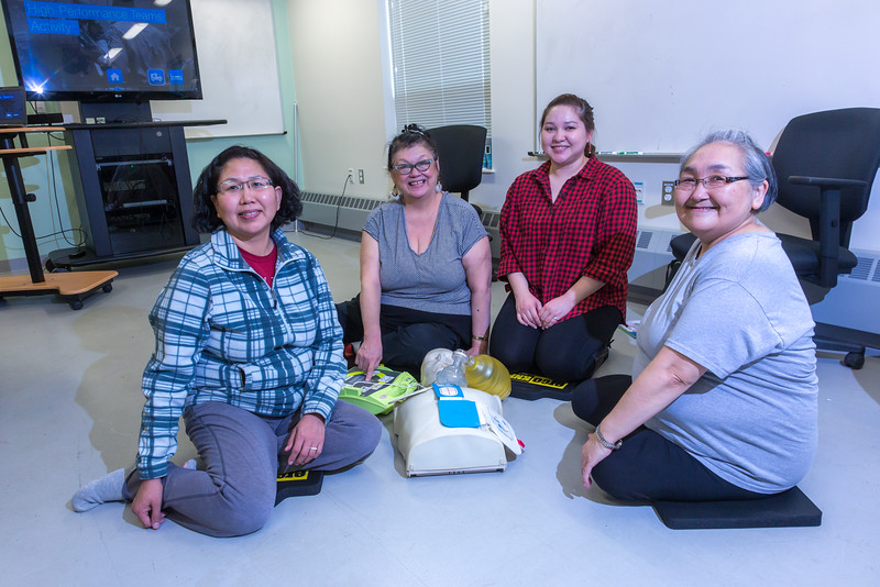 "Residents of Dillingham learn CPR techniques at a community workshop hosted by UAF's Bristol Bay Campus.  <div class=""ss-paypal-button"">Filename: AAR-16-4860-097.jpg</div><div class=""ss-paypal-button-end""></div>"