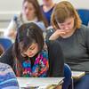 "Students in Associate Professor Dani Sheppard's Psychology 335 class, Brain and Behavior, take their final exam Dec. 17 in the Gruening Building.  <div class=""ss-paypal-button"">Filename: AAR-14-4414-143.jpg</div><div class=""ss-paypal-button-end""></div>"