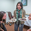 "Assistant Professor Barbara Blake, center, tries to protect plates of muktuk from two hungry students while setting up a potluck at Juneau's Goldbelt Hotel this week. Sarah Walker, left, Kelsey Wallace, right, and other students participated in a week-long seminar on the legislative process. The seminar was offered by UAF's Department of Alaska Native Studies and Rural Development, where Blake teaches.  <div class=""ss-paypal-button"">Filename: AAR-14-4055-396.jpg</div><div class=""ss-paypal-button-end"" style=""""></div>"