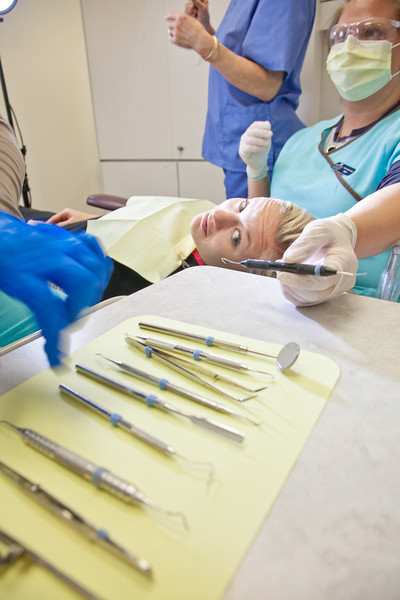 """Students in UAF's Community and Technical College Dental Assisting program practice procedures in their 4th floor training facility in CTC building downtown.  <div class=""""ss-paypal-button"""">Filename: AAR-12-3293-082.jpg</div><div class=""""ss-paypal-button-end"""" style=""""""""></div>"""