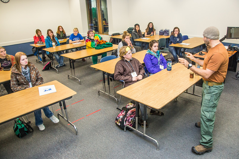 "Assistant professor Eduardo Wilner leads a mock philosphy class  with high school seniors during an Inside Out event in a Gruening Building classroom.  <div class=""ss-paypal-button"">Filename: AAR-12-3609-10.jpg</div><div class=""ss-paypal-button-end"" style=""""></div>"