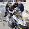 "Members of the UAF Clean Snowmachine Team pose outside the Duckering Building with their winning sled upon its return from Haughton, Michigan this afternoon after winning the 2012 SAE Clean Snowmobile Challenge. From left ro right are Karlin Swearingen, Isaac Thompson, Ben Neubauer, and Michael Golub.  **Do not use this images without confirmation from Kim, Jan or Michelle**  <div class=""ss-paypal-button"">Filename: AAR-12-3337-67.jpg</div><div class=""ss-paypal-button-end"" style=""""></div>"