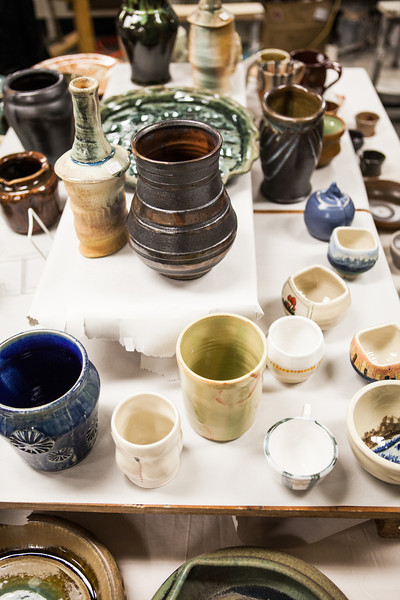 """Student potters' works of art were on sale for the public during the 2012 Student Artist Ceramics Sale on December.  <div class=""""ss-paypal-button"""">Filename: AAR-12-3683-12.jpg</div><div class=""""ss-paypal-button-end"""" style=""""""""></div>"""