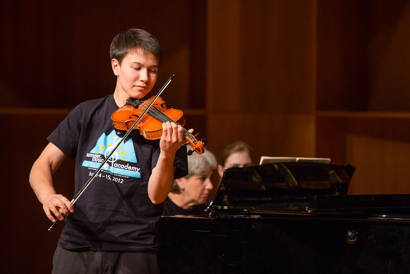 """Ethan Cheydleur performs Sonata No. 3 in F Major by George Frideric during UAF's Summer Music Academy's daily Concert Hour performances at the Davis Concert Hall.  <div class=""""ss-paypal-button"""">Filename: AAR-12-3429-4.jpg</div><div class=""""ss-paypal-button-end"""" style=""""""""></div>"""