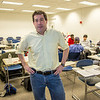 "Guest lecturer Willy Stern poses during a break in his lecture during the 2013 Wintermester investigative reporting class in the Gruening Building.  <div class=""ss-paypal-button"">Filename: AAR-13-3693-50.jpg</div><div class=""ss-paypal-button-end"" style=""""></div>"