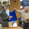 "Director Gary Holton and Michael E. Krauss unveil a plaque dedicating the Alaska Native Languages Archive Feb. 22, 2013, at the Rasmuson Library.  <div class=""ss-paypal-button"">Filename: AAR-13-3743-47.jpg</div><div class=""ss-paypal-button-end"" style=""""></div>"