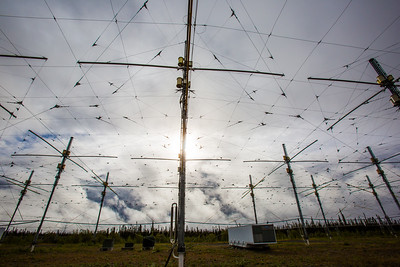A look at part of the antenae array at the High Frequency Active Auroral Research Program (HAARP) facility in Gakona. The facility was built and operated by the U.S. military before its official transfer to UAF's Geophysical Institute in August 2015.  Filename: AAR-15-4600-051.jpg