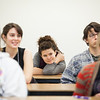"""Polly Bryant sits through a mock philosophy class at the Gruening Building during Discover UAF's InsideOut program in late October 2012.  <div class=""""ss-paypal-button"""">Filename: AAR-12-3614-72.jpg</div><div class=""""ss-paypal-button-end"""" style=""""""""></div>"""