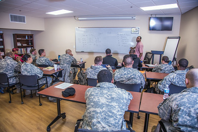 Soldiers stationed at Fort Wainwright have access to college classes through the Education Center on base.  Filename: AAR-14-4135-37.jpg