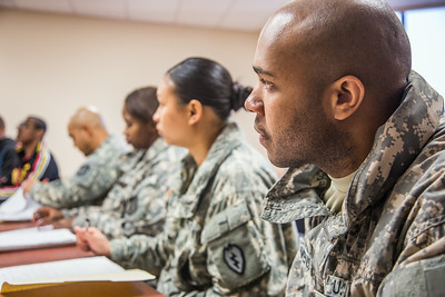 Soldiers stationed at Fort Wainwright have access to college classes through the Education Center on base.  Filename: AAR-14-4135-53.jpg