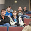 "Inside Out participants Jerad Caiazza (left front), Natasha Farley (right front), Mikhail Stahlke (left back), and Andrew Dohner (right back) attend Sherri Wall's Economics lecture in the Schaible Auditorium as part of the activities organized for high school students by The Office of Admissions.  <div class=""ss-paypal-button"">Filename: AAR-12-3333-04.jpg</div><div class=""ss-paypal-button-end"" style=""""></div>"