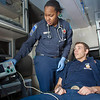 "UAF student firefighters/EMTs Lillian Hampton and Cory Kelly practice on each other during a training exercise in the back of an ambulance housed in the Whitaker Building on the Fairbanks campus.  <div class=""ss-paypal-button"">Filename: AAR-11-3223-64.jpg</div><div class=""ss-paypal-button-end"" style=""""></div>"