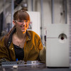 """Ph.D. candidate Amanda Lindoo works in the Reichardt Building petrology lab.  <div class=""""ss-paypal-button"""">Filename: AAR-16-4828-134.jpg</div><div class=""""ss-paypal-button-end""""></div>"""