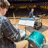 "Percussionist Sean Dowgray works with Professor Morris Palter during class, MUS F606 - Advanced Chamber Music - Percussion, in the Davis Concert Hall.  <div class=""ss-paypal-button"">Filename: AAR-14-4094-25.jpg</div><div class=""ss-paypal-button-end"" style=""""></div>"