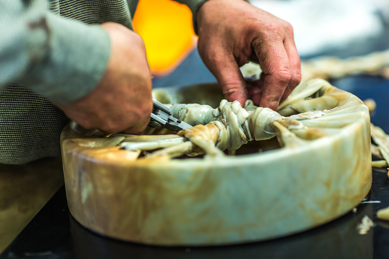 """Community members take a class on treating and making products with local reindeer hides at UAF's Northwest Campus in Nome.  <div class=""""ss-paypal-button"""">Filename: AAR-16-4865-037.jpg</div><div class=""""ss-paypal-button-end""""></div>"""