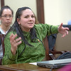 "Kristina Ramirez from Dillingham presents mock testimony to her peer students in RD 492 - Understanding the Legislative Process, at the conclusion of their week-long seminar in Juneau. inar in Juneau.  <div class=""ss-paypal-button"">Filename: AAR-13-3714-842.jpg</div><div class=""ss-paypal-button-end"" style=""""></div>"