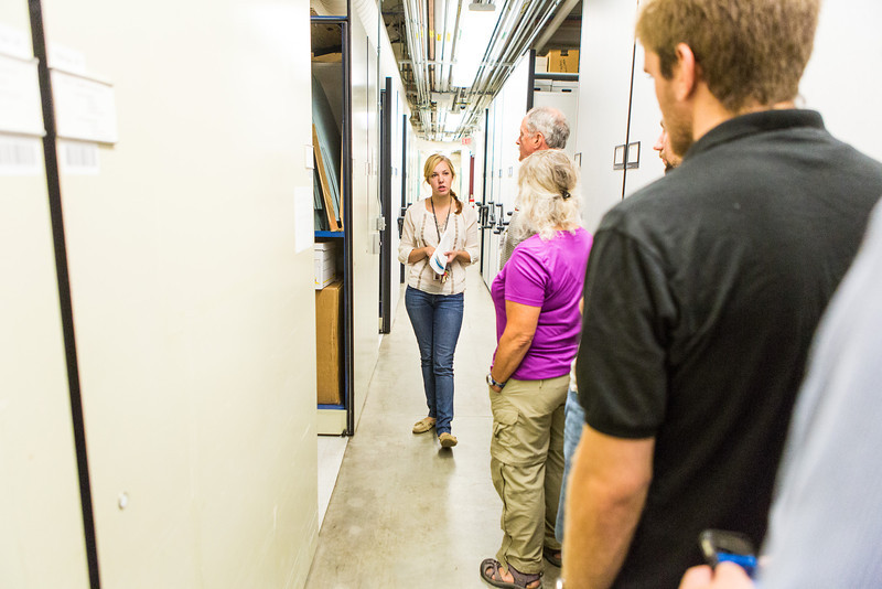 "Visitors were offered a sneak peak at the normally unseen rooms and artifacts during a behind the scenes tour of the UA Museum of the North's basement.  <div class=""ss-paypal-button"">Filename: AAR-13-3905-43.jpg</div><div class=""ss-paypal-button-end"" style=""""></div>"