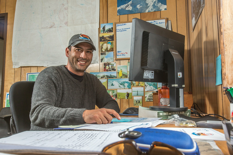 """Research technician Jorge Noguera supports research efforts at IAB's Toolik Field Station in the GPS unit.  <div class=""""ss-paypal-button"""">Filename: AAR-14-4216-046.jpg</div><div class=""""ss-paypal-button-end""""></div>"""