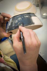 Local residents learn skills various aspects of ceramics at UAF's Kuskokwim Campus in Bethel.  Filename: AAR-16-4859-657.jpg