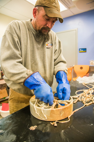 "Community members take a class on treating and making products with local reindeer hides at UAF's Northwest Campus in Nome.  <div class=""ss-paypal-button"">Filename: AAR-16-4865-453.jpg</div><div class=""ss-paypal-button-end""></div>"