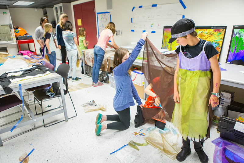 "Students from the Colors of Nature, a program sponsored by CNSM, create animal costumes during the two week program combining science and art.  <div class=""ss-paypal-button"">Filename: AAR-14-4252-59.jpg</div><div class=""ss-paypal-button-end""></div>"
