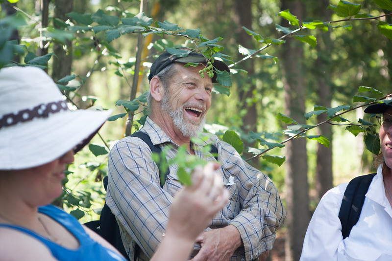 """Gerald Springer is all smiles at a field trip identifying local flora at UAF Summer Sessions and Lifelong Learning's Intro to Flora class June 23, 2012 on campus.  <div class=""""ss-paypal-button"""">Filename: AAR-12-3454-42.jpg</div><div class=""""ss-paypal-button-end"""" style=""""""""></div>"""