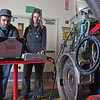 "CTC students Dayson Higgins and Missi Hacker run diagnostics in the diesel mechanics lab at the Hutchison Institute of Technology.  <div class=""ss-paypal-button"">Filename: AAR-12-3312-010.jpg</div><div class=""ss-paypal-button-end"" style=""""></div>"