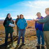 "Brian Barnes, director of UAF's Institute of Arctic Biology, describes some of the scientific research underway at Toolik to  Senator Lisa Murkowski (in blue down jacket) during the senator's brief visit to IAB's Toolik Field Station on Alaska's North Slope in Sept, 2013.  <div class=""ss-paypal-button"">Filename: AAR-13-3929-343.jpg</div><div class=""ss-paypal-button-end""></div>"