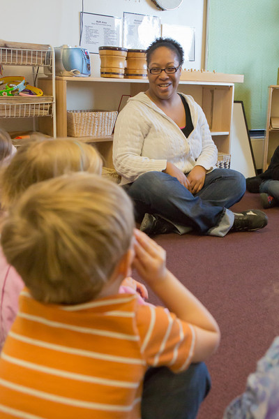 "Kewanna Ellis works with pre-schoolers at the Bunnell House on the UAF campus as part of her internship for a degree in early childhood development.  <div class=""ss-paypal-button"">Filename: AAR-12-3335-072.jpg</div><div class=""ss-paypal-button-end"" style=""""></div>"