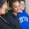 "Students Renee Mathena, left, Sharisse Watkins, center, and Kaylee Dennis react during a procedure demonstration in the nurse aide training program at UAF's Community and Technical College.  <div class=""ss-paypal-button"">Filename: AAR-12-3548-138.jpg</div><div class=""ss-paypal-button-end"" style=""""></div>"