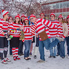 """School of Management Dean Mark Hermann, front and center, joined several members of his administrative staff in a Where's Waldo exercise for a Political Economy class.  <div class=""""ss-paypal-button"""">Filename: AAR-12-3621-61.jpg</div><div class=""""ss-paypal-button-end"""" style=""""""""></div>"""