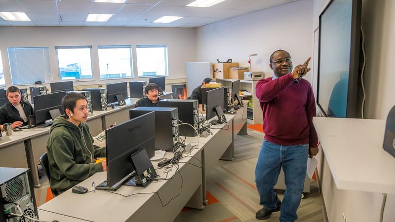 """UAF Chukchi Campus Assistant Professor of Developmental Math Kelechukwu Alu teaches a morning class at the Alaska Technical Center in Kotzebue.  <div class=""""ss-paypal-button"""">Filename: AAR-16-4863-308.jpg</div><div class=""""ss-paypal-button-end""""></div>"""