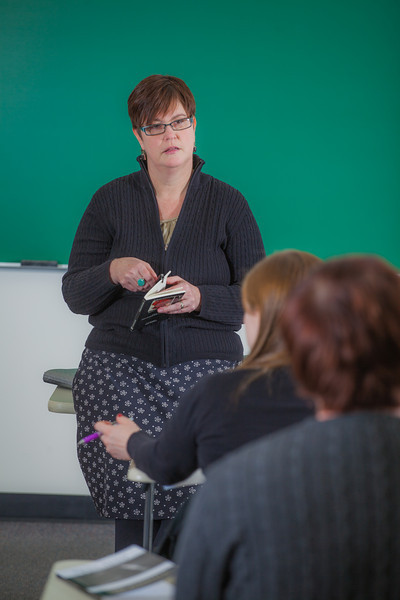 "Professor Alexandra Fitts addresses students in her Hispanic Theater class during a recent meeting in the Gruening Building.  <div class=""ss-paypal-button"">Filename: AAR-12-3350-14.jpg</div><div class=""ss-paypal-button-end"" style=""""></div>"