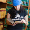 """Samantha D'Hondt conducts some research for her paralegal studies class at CTC's law library.  <div class=""""ss-paypal-button"""">Filename: AAR-11-3225-49.jpg</div><div class=""""ss-paypal-button-end"""" style=""""""""></div>"""