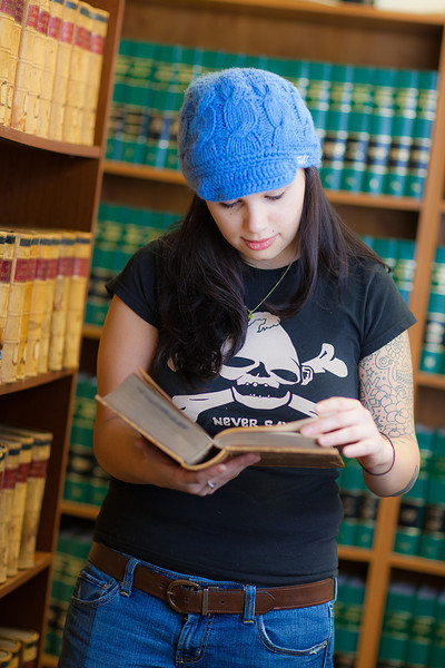 "Samantha D'Hondt conducts some research for her paralegal studies class at CTC's law library.  <div class=""ss-paypal-button"">Filename: AAR-11-3225-49.jpg</div><div class=""ss-paypal-button-end"" style=""""></div>"