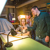 """Caleb Thompson takes a light reading on the talent before shooting a scene during the 2013 Wintermester cinematography class in the UAF Fine Arts complex.  <div class=""""ss-paypal-button"""">Filename: AAR-13-3690-42.jpg</div><div class=""""ss-paypal-button-end"""" style=""""""""></div>"""
