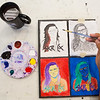 "A Visual Arts Academy student completes a painting at the Fine Arts Complex on the Fairbanks campus.  <div class=""ss-paypal-button"">Filename: AAR-16-4917-150.jpg</div><div class=""ss-paypal-button-end""></div>"