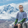 "Undergraduate geology major Pat Terhune poses near his camp above the Chedotlothna Glacier on June 28 during a 15-day field trip researching complexities of the Denali fault in Denali National Park and Preserve.  <div class=""ss-paypal-button"">Filename: AAR-14-4226-393.jpg</div><div class=""ss-paypal-button-end""></div>"