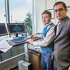 "Prof. Rajive Ganguli, right, works with mineral engineering graduate student Erdenebaatar Dondov to study software models of mining design in his Duckering Building office. Ganguli is helping Dondov and the government in his home country of Mongolia to establish a school of mining engineering there to educate locals to help develop the country's mineral resources.  <div class=""ss-paypal-button"">Filename: AAR-13-3842-15.jpg</div><div class=""ss-paypal-button-end"" style=""""></div>"