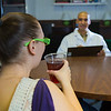 "Psychology major Omar Rutledge administers a cognitive recognition test to a volunteer as part of his research to determine the effects of artificial sweeteners being used in a variety of popular drinks.  <div class=""ss-paypal-button"">Filename: AAR-12-3328-85.jpg</div><div class=""ss-paypal-button-end"" style=""""></div>"